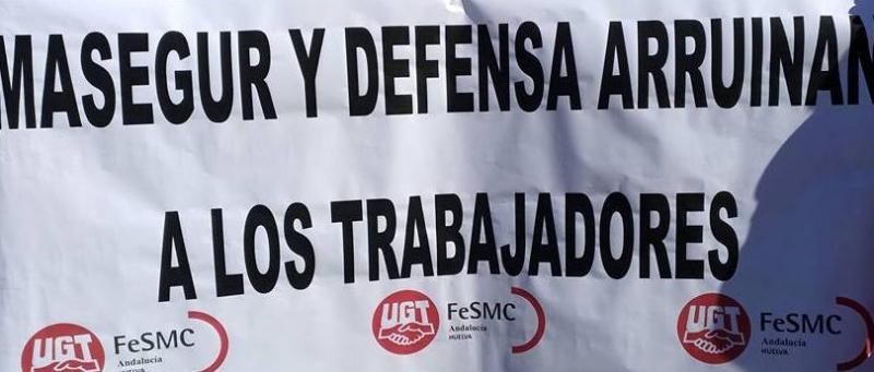 Toda la plantilla de Marsegur secunda la huelga general en la empresa de seguridad del Ministerio de Defensa