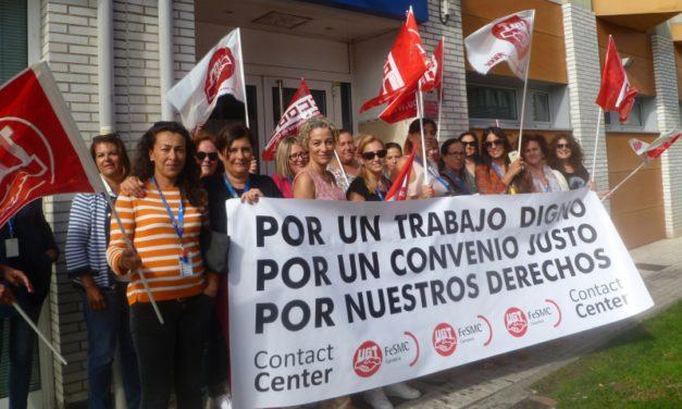 Un 55% de los trabajadores del telemarketing en Cantabria secunda los paros por el nuevo convenio