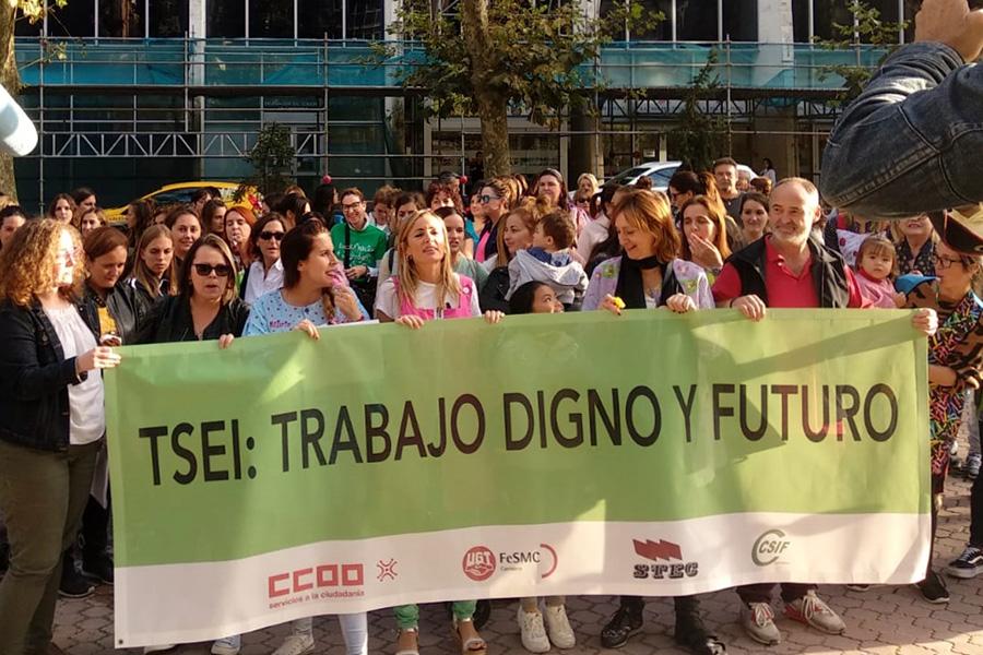 Los técnicos superiores de educación infantil reclaman al Gobierno de Cantabria «trabajo digno y futuro»