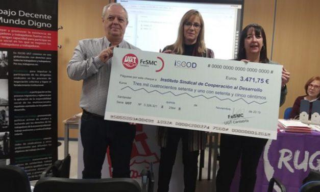 La Federación de Servicios (FeSMC) de UGT dona 3.400 euros para evitar el abandono escolar de 560 estudiantes marroquíes